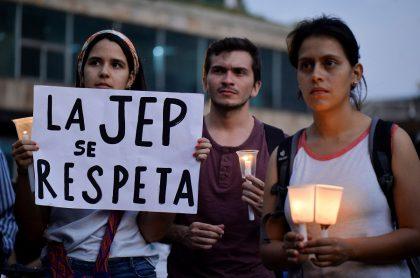 Protestas a favor de la JEP