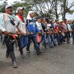 Integrantes de la guardia indígena