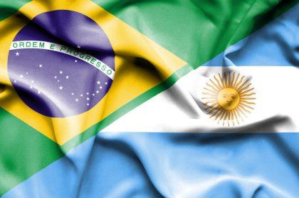 Banderas de Brasil y Argentina