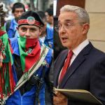 Indígenas y Álvaro Uribe