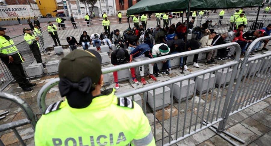 Capturados en mega operativo en Bogotá