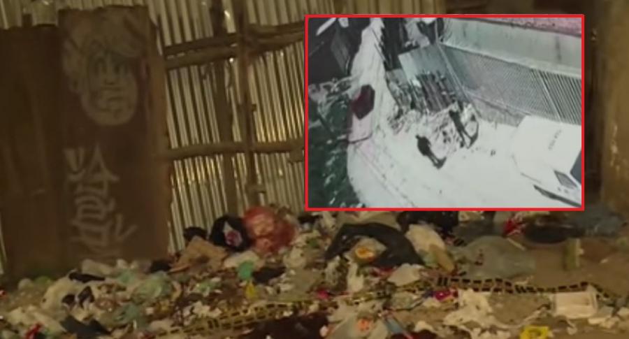 Botadero done fue tirado el cuerpo, y pareja que botó al bebé.