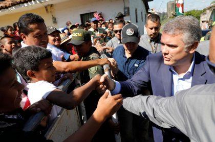 Iván Duque en Cauca
