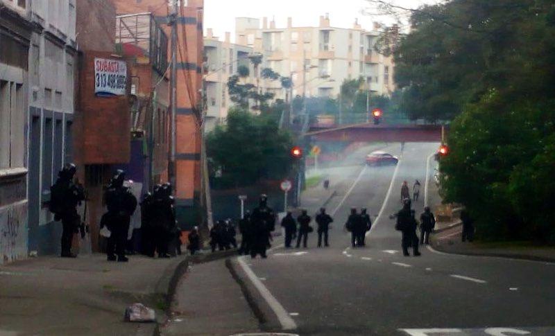 Disturbios Universidad Distrital
