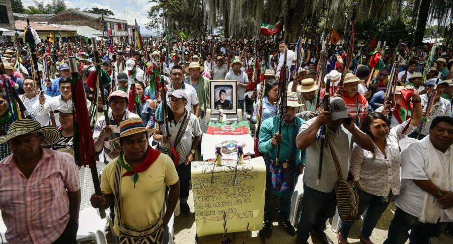 Minga indígena en Cauca