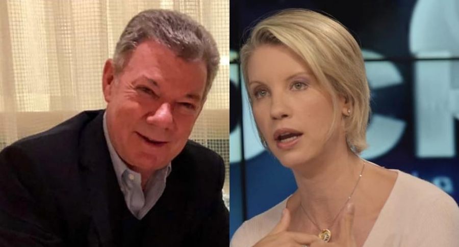 Juan Manuel Santos y Claudia Gurisatti