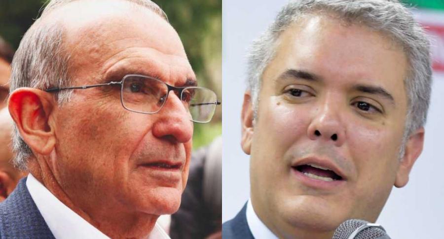 Humberto de la Calle e Iván Duque