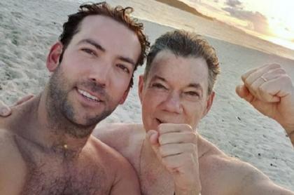 Martín Santos y Juan Manuel Santos