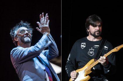 Fito Páez y Juanes, cantantes.