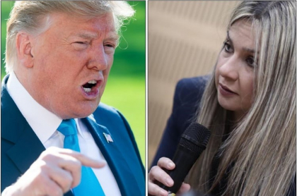 Donald Trump y Vicky Dávila