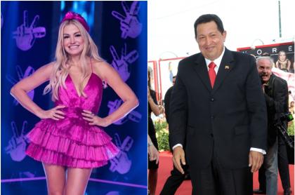 Fanny Lu y Hugo Chávez