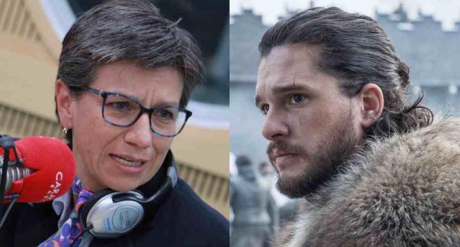 Claudia López y Jon Snow