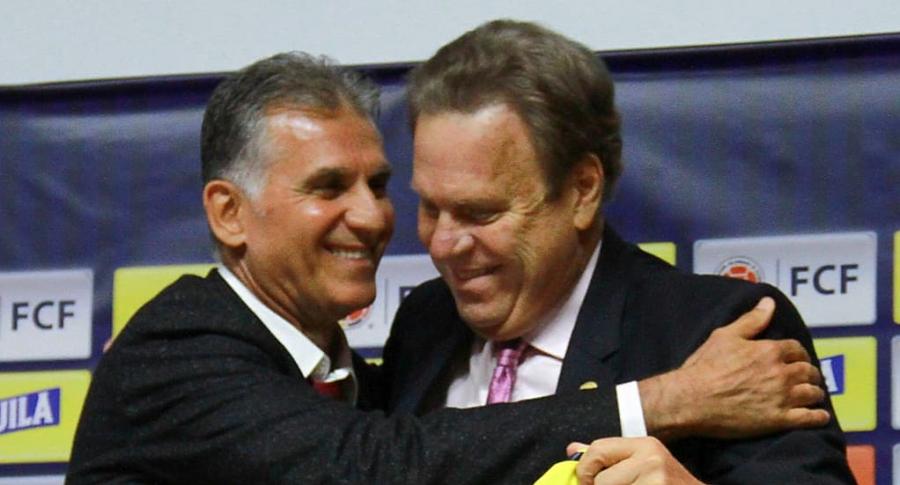 Carlos Queiroz y Ramón Jasurún