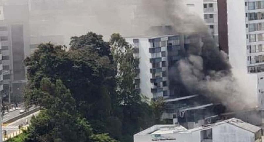 Incendio en edificio en Manizales
