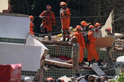Derrumbe de edificios Río de Janeiro