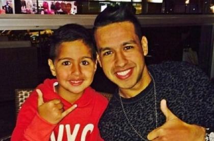 Martín Elías y su hijo