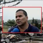 Finca de Jahir Palacios destruida