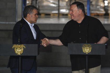 Iván Duque y Mike Pompeo