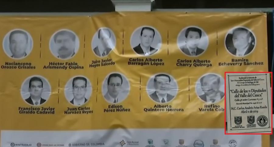 Homenaje a los 11 diputados del Valle de Cauca, asesinados por las Farc