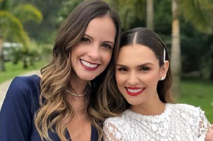 Laura Acuña, presentadora, y Danielle Arciniegas, actriz.
