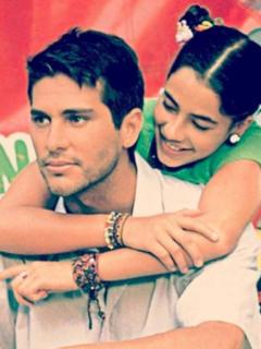 Marcelo Cezán y Carla Giraldo, actores.
