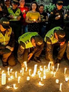 Atentado a Policía en Bogotá