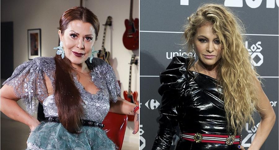 Alejandra Guzmán y Paulina Rubio, cantantes.