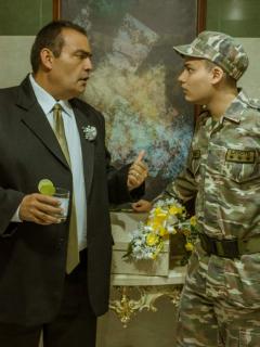 Enrique Carriazo y Daniel Rengifo, actores.