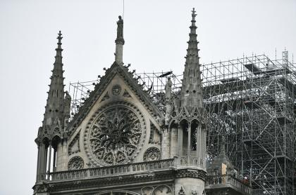 Catredral de Notre Dame luego del incendio