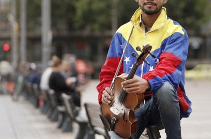 Migrante venezolano en Bogotá