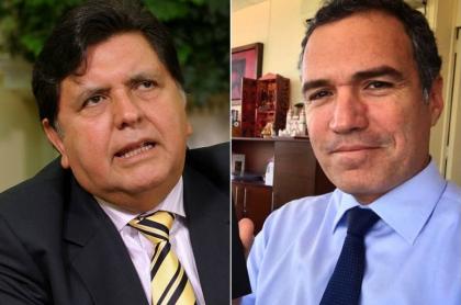 Alan García, expresidente de Perú, y Salvador del Solar, actor.