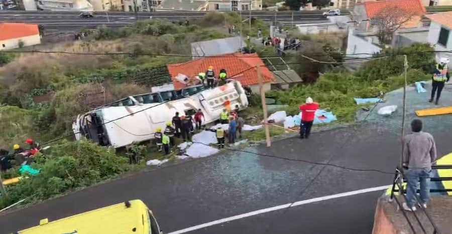 Accidente de bus en Portugal