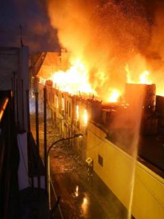 Incendio en Lima.