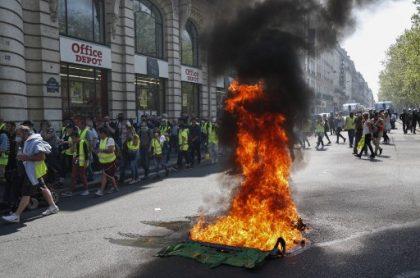 Quema en protesta