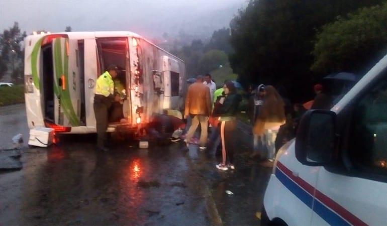Accidente de tránsito en Ventaquemada, Boyacá