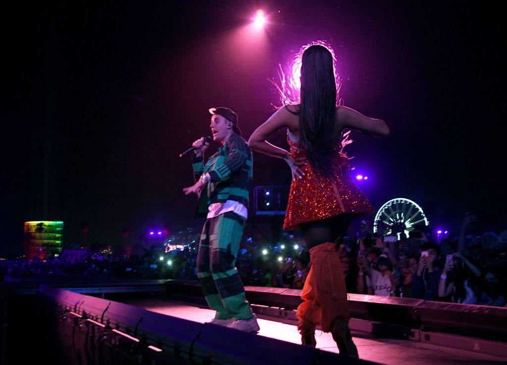 Justin Bieber y Ariana Grande en Coachella 2019