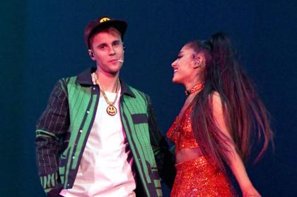 Justin Bieber y Ariana Grande en Coachella 2019 .