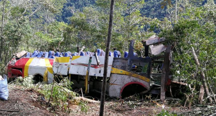 Bus siniestrado Bolivia