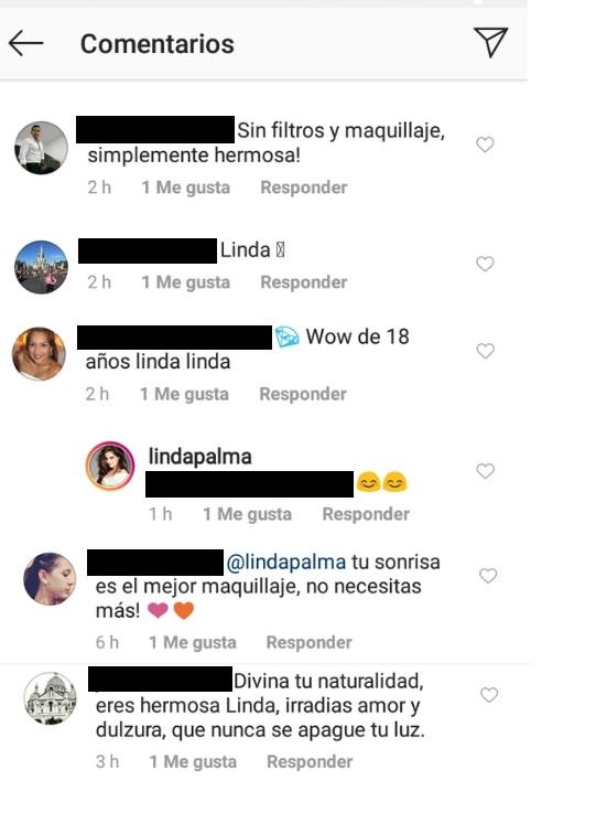Comentarios post Linda Palma
