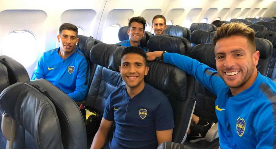 Boca Juniors en el avión