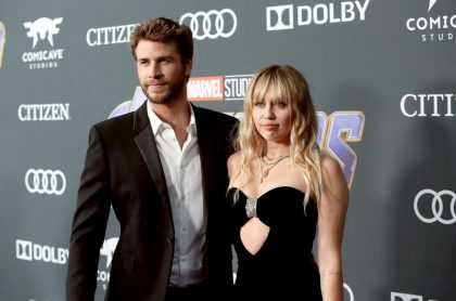 Liam Hemsworth, actor, y Miley Cyrus, cantante.
