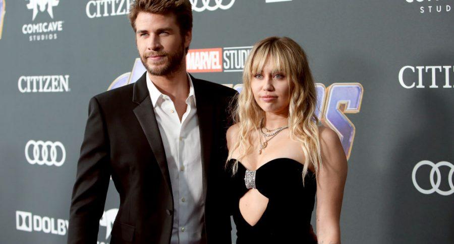 Liam Hemsworth, actor, y Miley Cyrus, cantante.