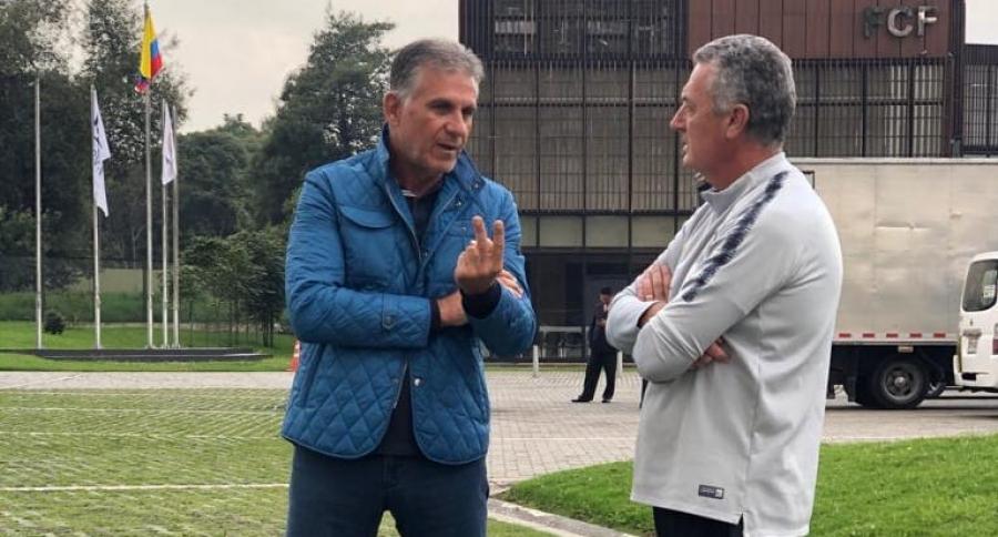 Carlos Queiroz y Gustavo Alfaro