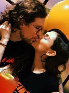 David Escobar, 'DIM' de Piso 21, y su esposa Danielle Arciniegas, actriz.
