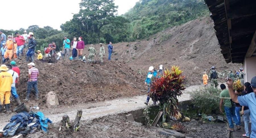 Deslizamiento de tierra en Cauca