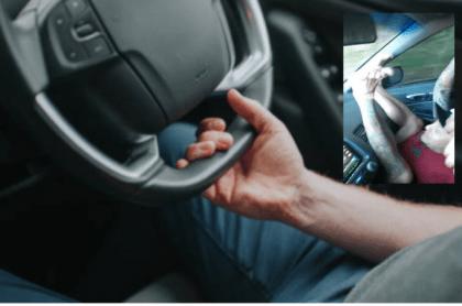 Conductor manejando