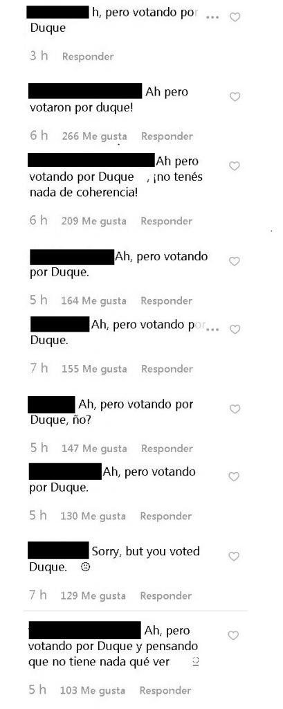 Comentarios Paulina Vega