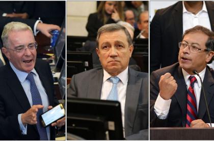 Álvaro Uribe, Ernesto Macías y Gustavo Petro