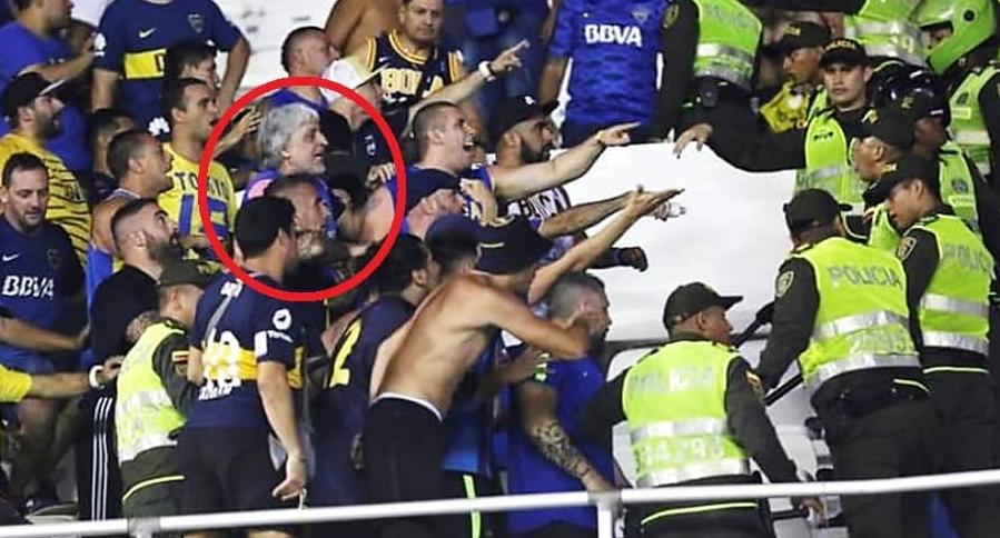 Rafael Di Zeo, hincha de Boca Juniors, en Barranquilla