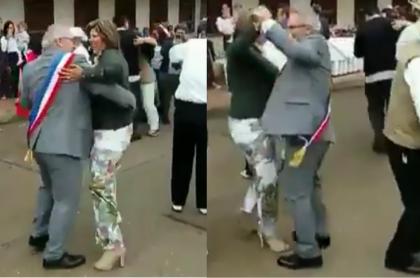 Alcalde francés baila carranga